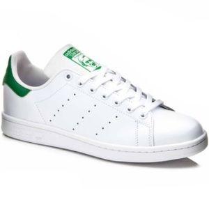 Adidas Stan Smith White & Green Sneakers